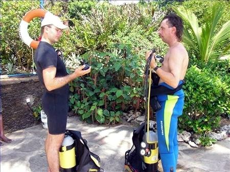 Instructions for PADI Open Water Diver student